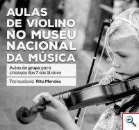 Aulas de Violino no Museu Nacional da Música