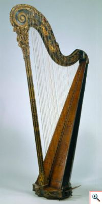 Harpa de Jean Henri Naderman (Museu da Música, Inv. MM 210)